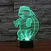 Ночник 3D-светильник Pets Turtle, фото 7