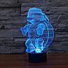 Ночник 3D-светильник Pets Turtle, фото 8