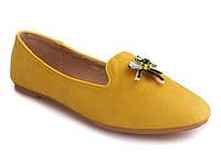 Балетки, лоферы желтого цвета