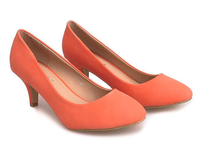 Яркие женские туфли лодочки оранжевого цвета