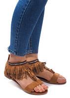 Женские сандалии с бахромой