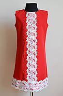 Летнее платье или сарафан для девочки, красного цвета