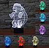 Ночник 3D-светильник Pets Turtle, фото 2