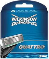 Змінні касети для гоління Wilkinson Sword Quattro 8 шт.