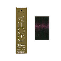 Igora Royal Absolutes - Крем краска для волос 4-90 Средне-коричневый фиолетовый натуральный, 60 мл