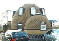 Двухэтажный купольный дом