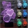 Ночник 3D-светильник Pets Bear, фото 3