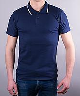 Стильная мужская тениска с одинарным кантиком на воротнике