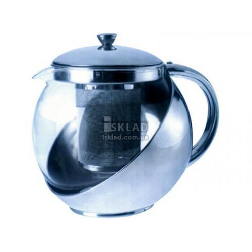 Чайник-заварник 900мл нерж. 0113 А+