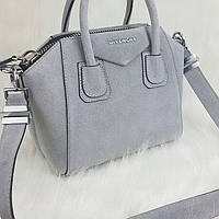 Пепельная  сумочка Givenchy! замша натуральная!!!