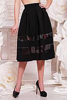 Пышная женская юбка миди