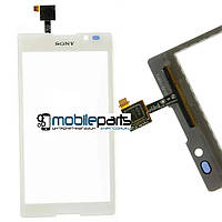 Оригинальный Сенсор (Тачскрин) для Sony C2305 | S39h | Xperia C (Белый) + Скотч!