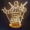 Светодиодная 3D-лампа Lite Deadpool, фото 5
