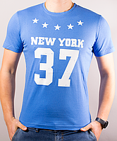 Модная летняя мужская футболка с надписью