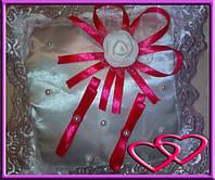 """Свадебные подушечки для колец """"Роза"""", цвета в ассортименте Красный"""