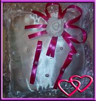 """Свадебные подушечки для колец """"Роза"""", цвета в ассортименте Розовый"""