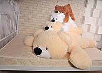 Большая мягкая игрушка медведь Умка 125 см персиковый