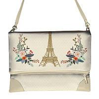 Сумка через плечо женская с принтом Париж