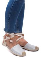 Летние босоножки с закрытым носком, на шнурках