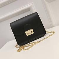 Черная женская сумка, кроссбоди,уценка