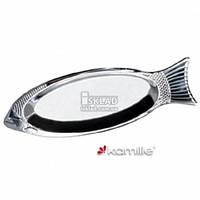Блюдо для рыбы Kamille 40 см нержавейка 4339