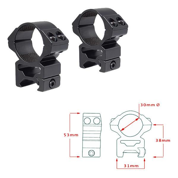 Кольца Hawke  Matchmount 30mm/Weaver/High