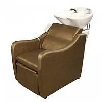 Кресло-мойка E-046 (без электропривода) темно-золотой жатый