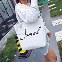 Белая пляжная женская сумка Jamel