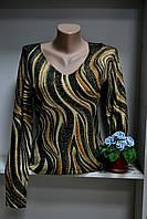 Джемпер женский длинный рукав с люрексом, фото 1