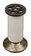 НК5 Опора, ножка мебельная НК-5 металл+керамика старое золото+слоновая кость H= 100мм Китай Falso Stile