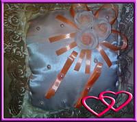 """Свадебные подушечки для колец """"Букет"""", цвета в ассортименте Персик"""