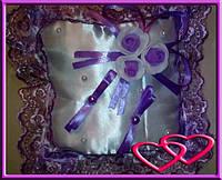"""Свадебные подушечки для колец """"Букет"""", цвета в ассортименте Фиолетовый"""
