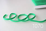 Тесьма со вставками зеленая 9 мм (Т070), фото 1