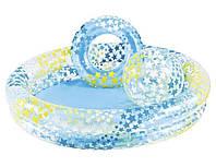 Детский надувной бассейн Intex 59460 с надувным кругом и мячом