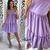 Женское красивое платье с оборками (6 цветов), фото 1