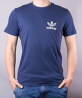 Темно-синяя мужская футболка ADIDAS LITTLE