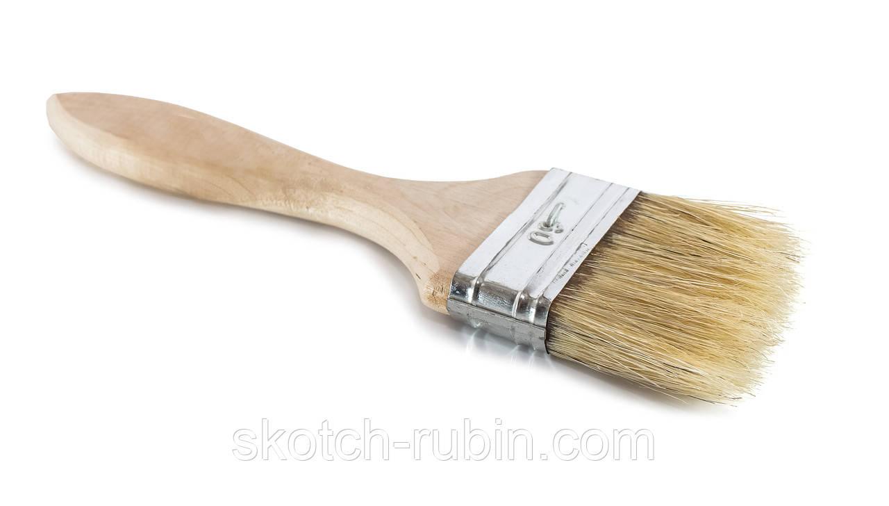 Малярная кисть деревянная Украина 60 мм