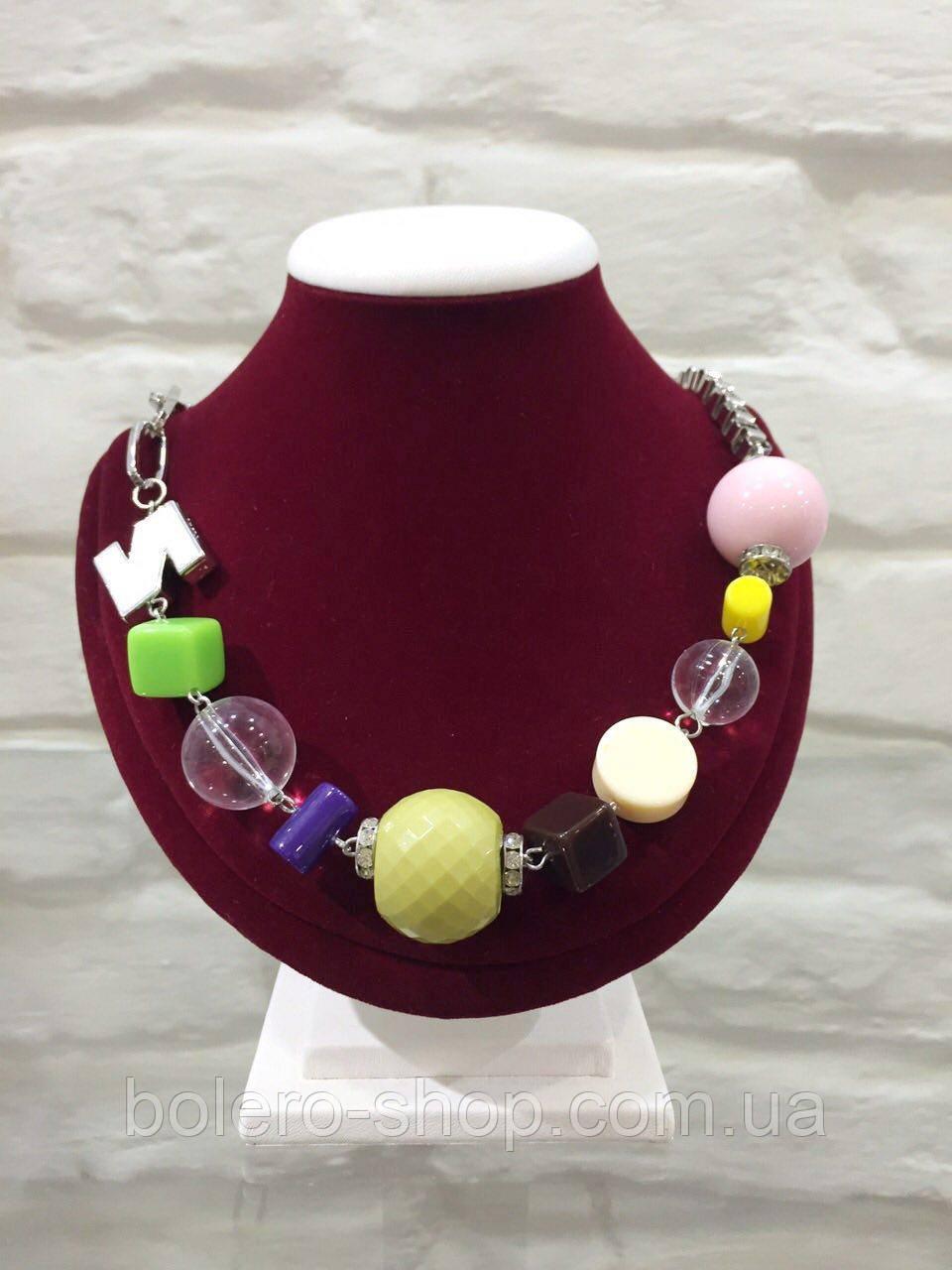 Брендовая женская бижутерия подвеска разноцветная