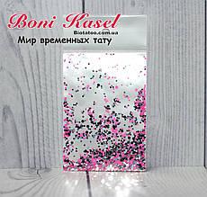 Конфетти (камифубуки) розовые с серебром