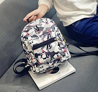 Детский маленький рюкзак с пингвинами