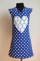 Детское платье или сарафан для девочки в горошек