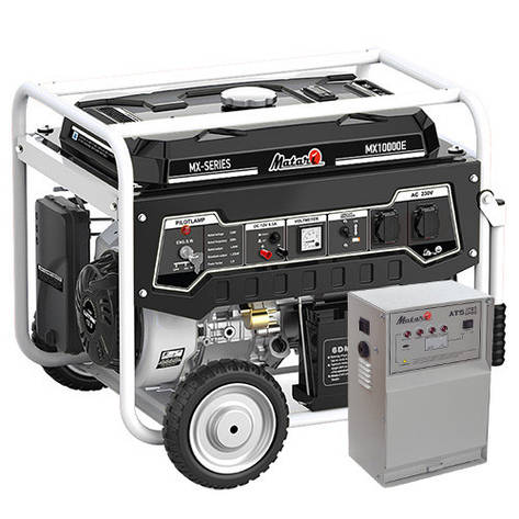 Бензиновий генератор Matari MX10000E-ATS (7,5 кВт), фото 2