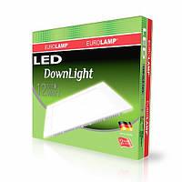 Светодиодный квадратный врезной светильник EUROLAMP Downlight 12W 4000K