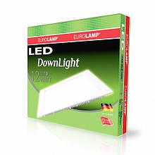 Світлодіодний квадратний світильник врізний EUROLAMP Downlight 12W 4000K