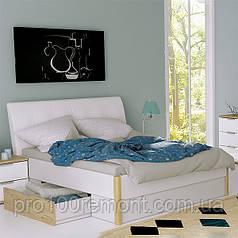 Кровать 1.8 ФЛОРЕНЦИЯ глянец белый/дуб Сан-Марино от Миро-Марк