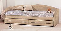 Кровать односпальная 90  с ящиками К-117 серия Софт (Комфорт) 970х2050х750мм