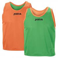 Манишка футбольная двухсторонняя оранжево-зеленая Joma (605.001)