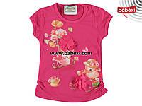Нарядная  летняя футболка  для девочек 2, 3, 4, 5 лет.Турция!100 % хлопок!Детская летняя одежда!