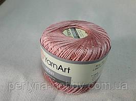 Пряжа нитки для вязания хлопковые  Виолет Ярнарт Violet YarnArt 100% бавовна попелясто рожевий  4105