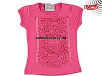 Нарядная  летняя футболка  для девочек 1,2, 3, 4 года.Турция!100 % хлопок!Детская летняя одежда!